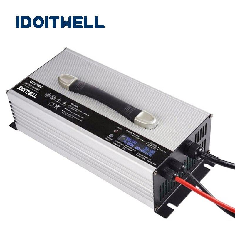 Personnalisé 2000 W smart chargeur de batterie automatique 48 V 30A écran lcd Personnalisé 48 vlot battety chargeur avec protection de Surcharge