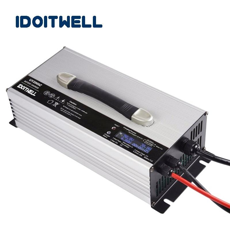 Personnalisé 2000 w intelligent automatique batterie chargeur 48 v 30A LCD affichage Personnalisé 48 vlot battety chargeur avec protection de Surcharge