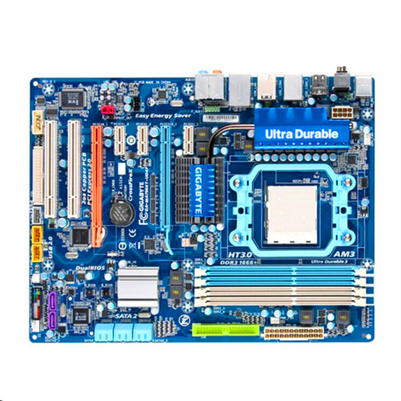 gigabyte ga ma790xt ud4p купить - Used original for Gigabyte GA-MA790XT-UD4P MA790XT-UD4P  DDR3 AM3 all solid state Free shipping