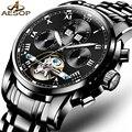 AESOP Leucht Männer Marke Schwarz Uhr Mode Luxus Armbanduhr Wasserdicht Automatische Mechanische Uhr Tourbillon Kinderuhren