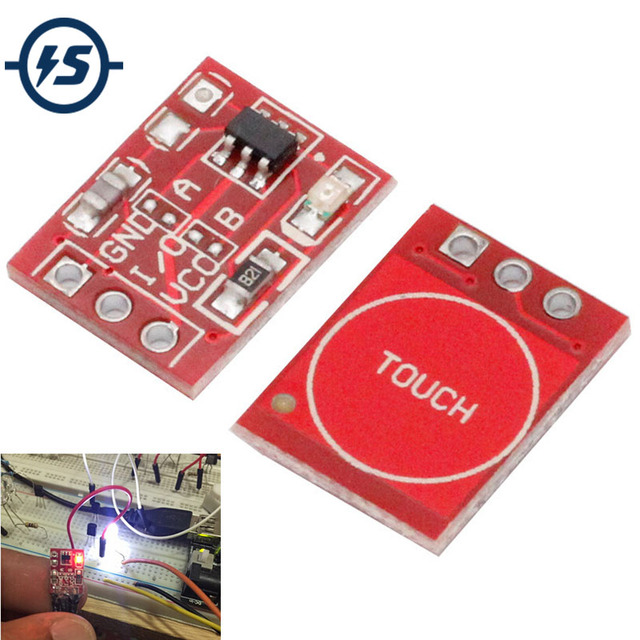 10Pcs TTP223 Touch Key Switch Module Touch Button Capacitive Switches Self-Locking/No-Locking Capacitive Touch Switches