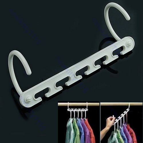 Подробнее о 8 Pcs Space Saver Wonder Magic Clothes Hangers Closet Organizer Hooks Racks New hq новый space saver экономия хранения seal вакуумные пакеты сжатый 50x70 см организатор