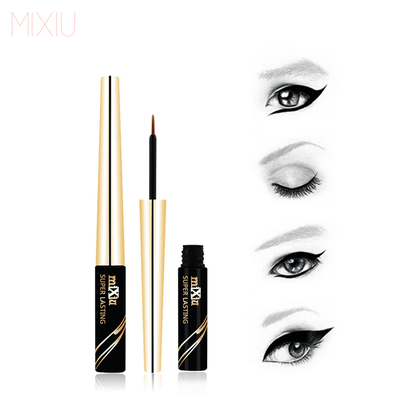 MIXiu Eye Makeup 6ML Black Liquid Eyeliner Waterproof Liquid Eye Liner Pencil Cosmetics Long Lasting Matte Eyeliner Brand Makeup