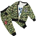 Cool Fashion Boy meninas de bebê camuflagem casaco + t-shirt + calças Casual Outfit 3 peça fatos primavera queda roupas 4 cores