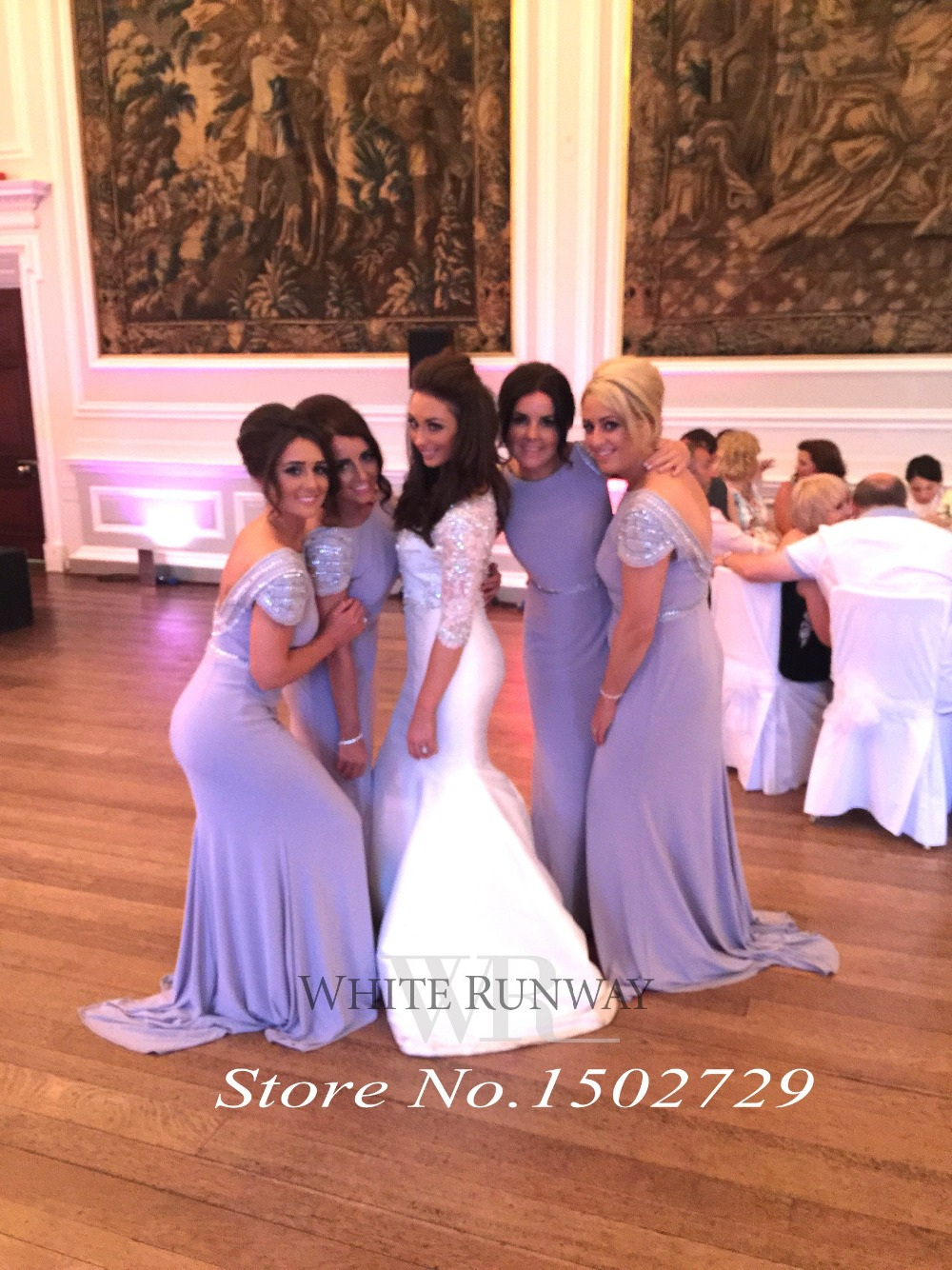 Aliexpress buy saudi arabic silver grey mermaid bridesmaid aliexpress buy saudi arabic silver grey mermaid bridesmaid dresses plus size long wedding formal dress to party cap sleeve sequined vestidos from ombrellifo Choice Image