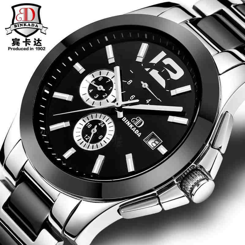 BINKADA Watch Men Fashion Luxury Watches Men Mechanical Wristwatches Ceramic Waterproof Clock Relogio Male Christmas Gift