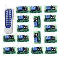 16CH DC 12V Rf Home Automation Long Range Remote Control Switch 315 433MHZ 1 Transmitter 16