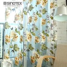 1 unids/lote isinotex ventana cortina impresa flor transparente escarpada cribado salón tul burnout tela camisera