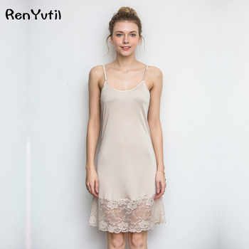 RenYvtiI Hight Quality 100% Silk Brand Women Nightgowns 2017 Ladies Short Sexy Embroidery Lace Sleep Camis Dressing Gown Summer - DISCOUNT ITEM  0% OFF All Category