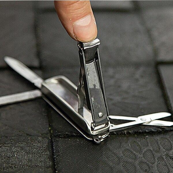 Acheter 2018 nouveau 5 en 1 mini coupe ongles EDC manucure outil clé pendentif en acier inoxydable beauté ciseaux couteau à ongles de Outils extérieurs fiable fournisseurs