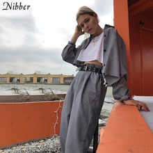 Nibber herfst mode Retro Plaid jassen womens basic volledige mouw losse Dunne jas 2019 hot Harajuku wilde ongedwongen top coat mujer(China)