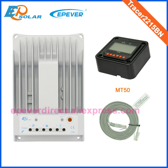 20amp 20A solar battery charger Controller Tracer2215BN for home use with MT50 remote meter