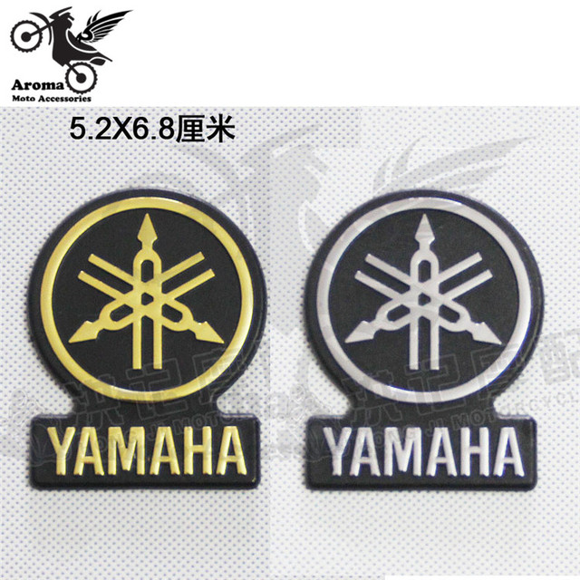 Round motorcycle decal for yamaha logo badge emblem motorbike tank sticker car gold sliver style moto