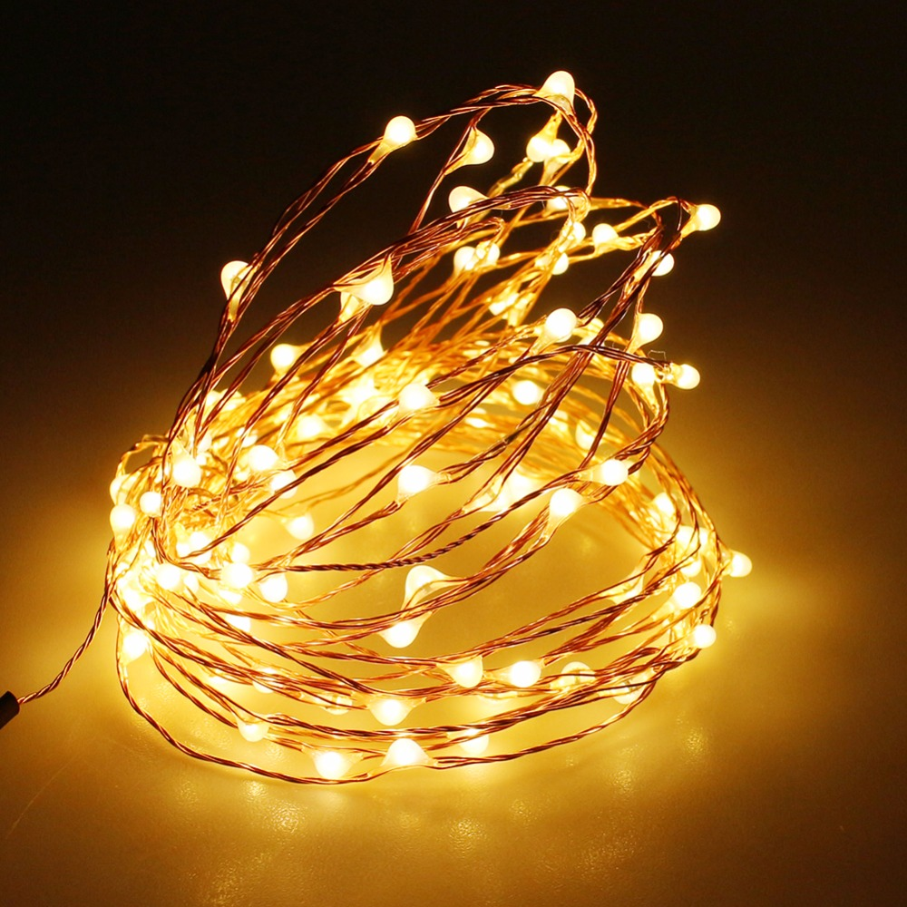 4m 40 led strip copper wire 3aa battery powered christmas lights decoration holiday lighting with battery box led string light