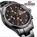 Svizzera orologi degli uomini di marca di lusso Orologi Da Polso BINGER Quarzo completa in acciaio orologio maschile impermeabile 100M BG-0401-2