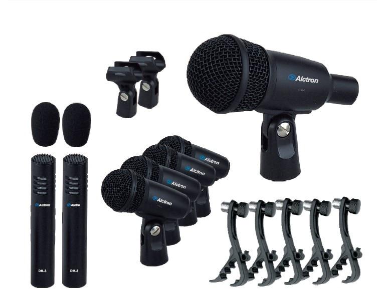 original alctron t8400 drum microphone set 7 piece kit drum clip musical instrument microphone. Black Bedroom Furniture Sets. Home Design Ideas