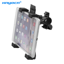 New Bicycle tablet stand Music Microphone Mount Motorcycle Bike Holder Mount For 7 to 11inch Tablet iPad Air 5 4 3 2 Samsung Tab автомобильный держатель onetto tablet mount easy smart tab 2