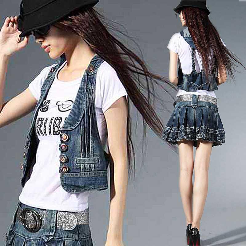 Online Get Cheap Ladies Jeans Sleeveless Jacket -Aliexpress.com ...