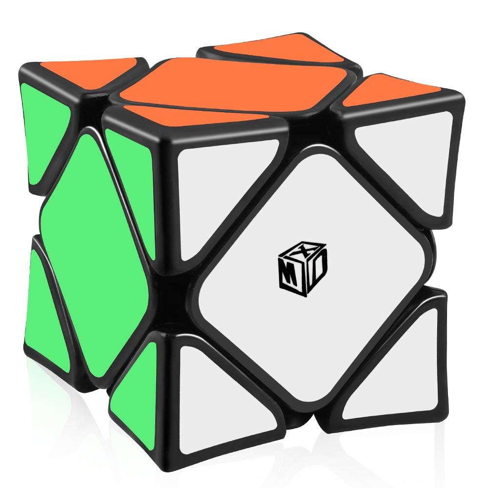 D-FantiX X-MAN Wingy Skew Concave Magnetic Skew Speed Cube Magic Cube Puzzle Toys Black/StickerlessD-FantiX X-MAN Wingy Skew Concave Magnetic Skew Speed Cube Magic Cube Puzzle Toys Black/Stickerless