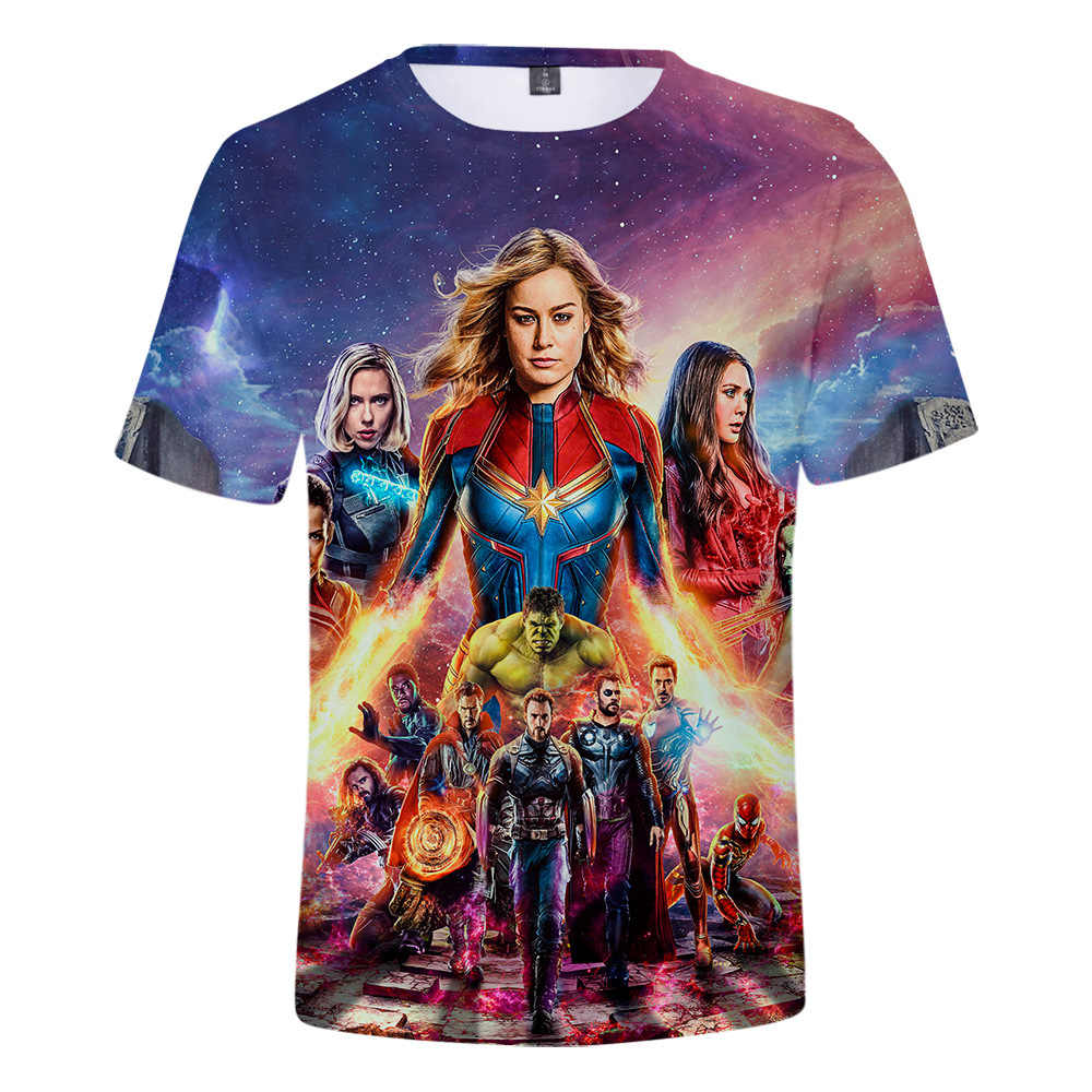 Мстители 4 эндшпиль футболка Косплэй Quantum области футболка Для мужчин Для женщин супергероя Железный человек танос 3D печатных Футболки