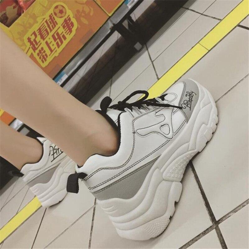 Chunky 9 Mujer Top 2019 Basket Entrenadores 4 Mujeres Calzado Plataforma Nuevo 2 1 Casual Papá Moda Zapatos Zapatillas High qXvqa
