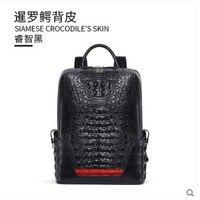 Gete Новый 2019 новый рюкзак из крокодиловой кожи мужская сумка кожаная индивидуальная Мода Тайский крокодиловый Рюкзак Повседневная сумка му