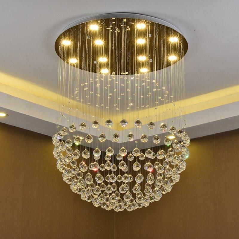 Modern retro Spherical crystal lustre Ceiling Lights GU10 Plafonnier LED ceiling Lamp For Living Room bedroom