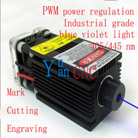 DIY High Power 5500mw Laser Focus 445nmBlue Laser Diode Module, DC: 12V, Adjust Focus for laser cutting and engraving