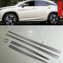 ANGRYRABBIT Silver Door Body Trim For Lexus RX 350 450 2016 Molding Cover  Kit