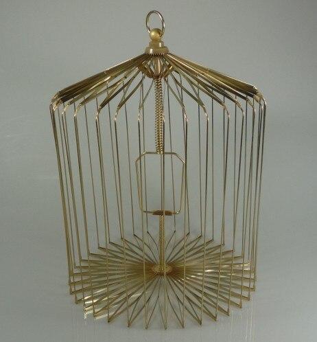 Cage à oiseaux en acier doré-grande taille (cage apparaissant colombe), tours de magie, illusions, tours de cartes nouveautés