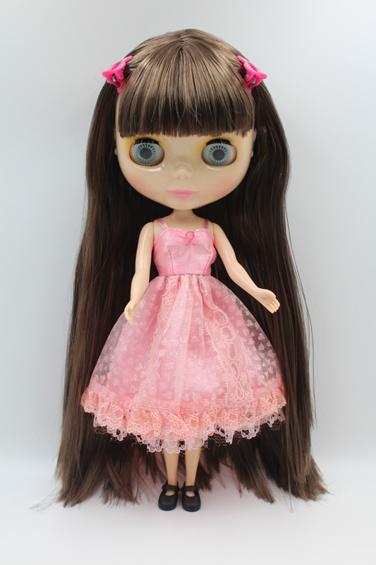 Free Shipping big discount RBL-299DIY Nude Blyth doll birthday gift for girl 4colour big eyes dolls with beautiful Hair cute toy free shipping nude blyth doll black3 hair big eye doll for girl s gift pjb003
