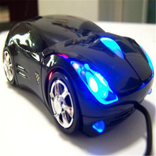 Brand New 3D Optical USB Wired Mouse Mice 800DPI Car Shape for PC Laptop Notebook Computer Black #A