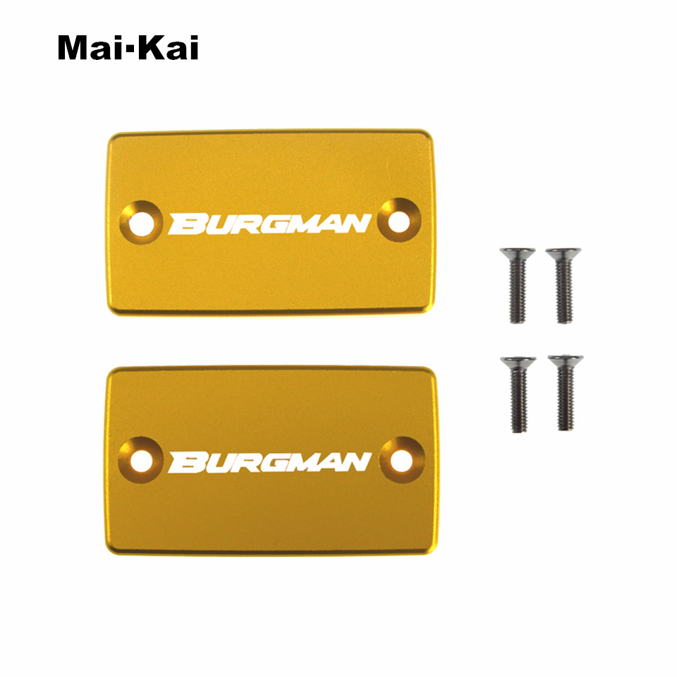 MAIKAI For SUZUKI Burgman 650 2006 2019 Burgman 400 2016 2019 CNC Aluminum Motorcycle Brake Fluid Fuel Tank Cap Cover in Covers Ornamental Mouldings from Automobiles Motorcycles