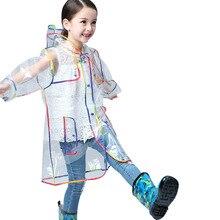 Модные уличные Пеший Туризм детские плащи прозрачной соединены прекрасный плащ Лидер продаж