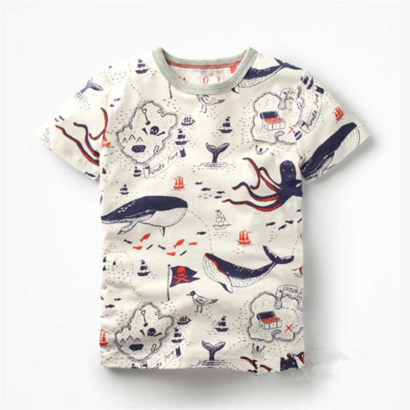 2018 New Spring Cartoon Brand Boys T Shirt Boys Kids Clothes Designer Baby Toddler Boys Short Sleeve Cotton T Shirts Tops 1