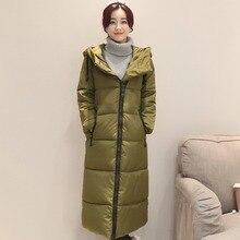Женщины Зимнее Пальто Средней длины Асимметричный Молнии Дамы Куртки Slim Fit С Капюшоном Стеганые Пальто Женский Пальто Наряды