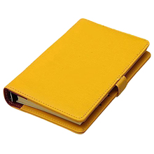 FASHION Pocket Organiser Planner Leather Filofax Diary Notebook Yellow