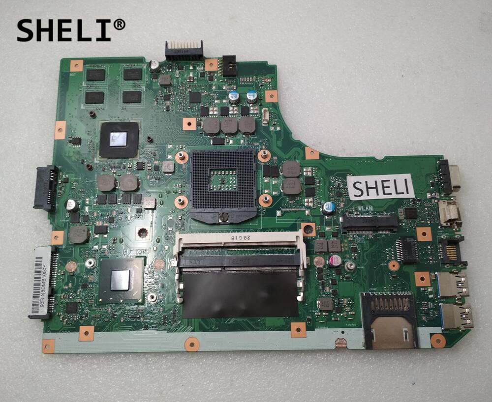 SHELI NEW For Asus K55A U57A K55VD Motherboard REV 3.1 60-N8DMB1700-C04 69N0M7M17C04 ytai k55vd rev 3 1 mianboard for asus k55vd k55a laptop motherboard hm76 integrated graphic card 2 ddr3 usb3 0 mainboard
