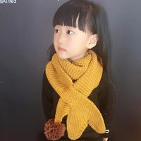 Children Handmade Knitted Mermaid Shape Crochet Scarf Winter Fashion Colorful Ball Wrap Warm Scarves For Kids