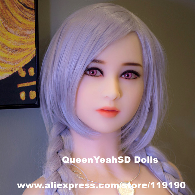 Top Quality Silicone Realistic <font><b>Doll</b></font> <font><b>Sex</b></font> Head For Japanese Love <font><b>Doll</b></font> Sexy <font><b>Dolls</b></font> Oral Adult <font><b>Sex</b></font> Toys Fit Body Height <font><b>135</b></font> to 172cm image
