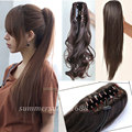 "UPS Local Shipping 21"" Long  Ponytail Clip in Pony tail Hair extensions Claw on Hair Piece Straight Style Fashion NEW Style"