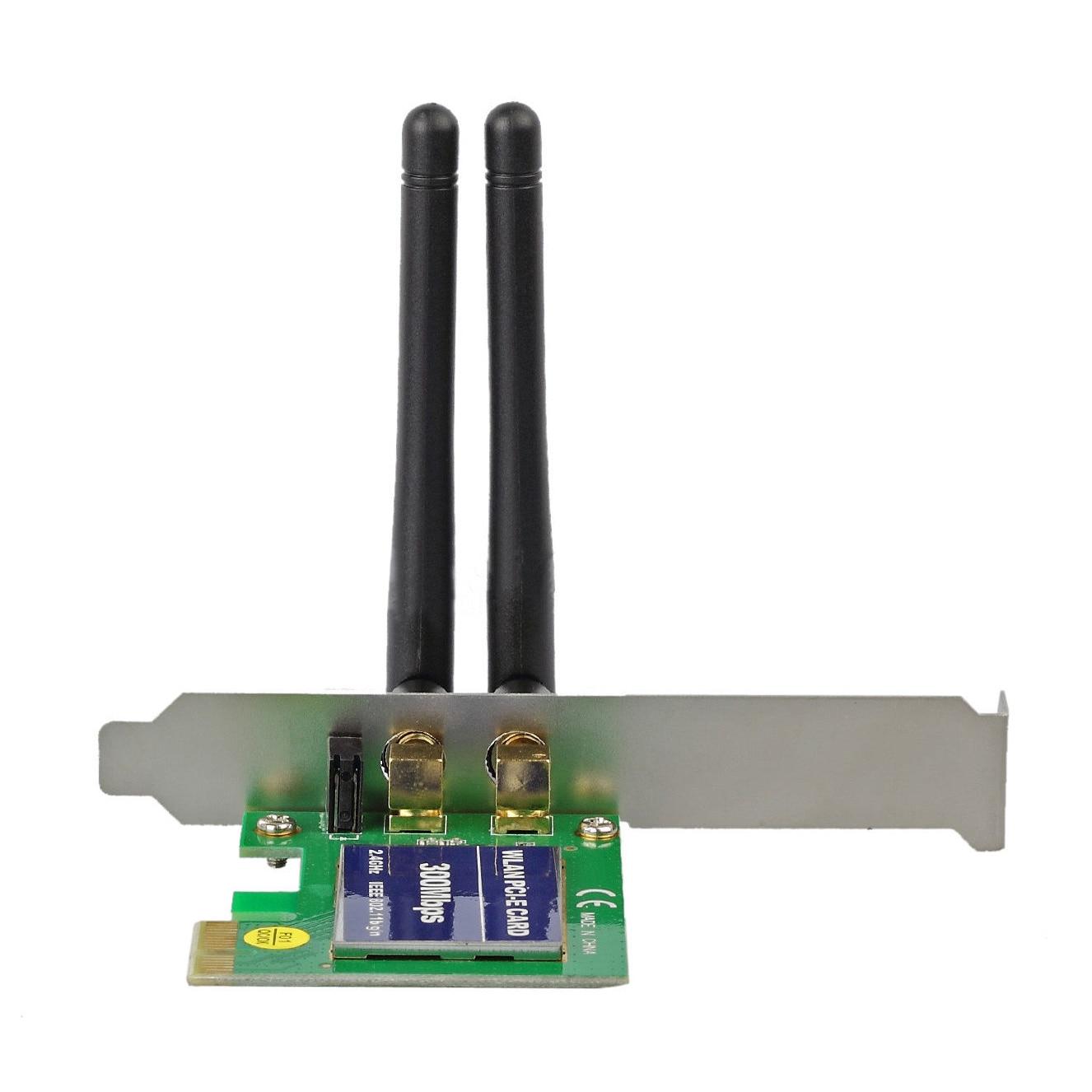 2 Antenna 300M Wireless PCI-E WiFi Network Adapter LAN Cards for Desktop PC