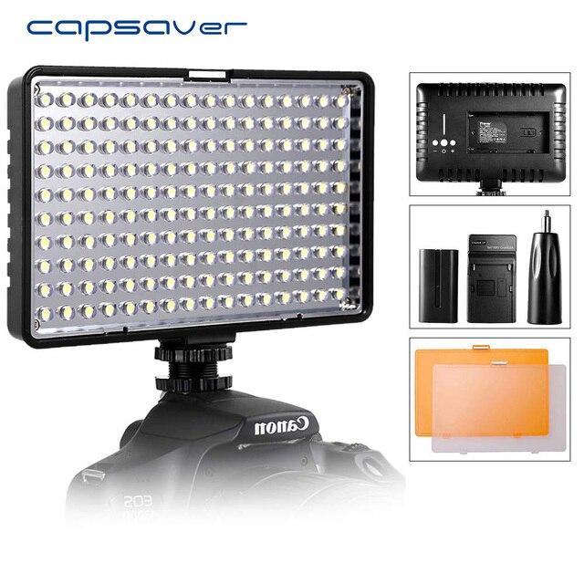 Capsaver TL 160S สตูดิโอ LED Video Light 160 leds กล้องมือถือ Photo โคมไฟสำหรับ Canon Nikon youtube ยิง
