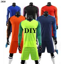 ZMSM Adult Long sleeve Soccer Jersey Sets Survetement Football Kit Men Uniform Training Shirt Shorts Sports Suit DN8201