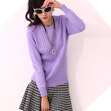 2016 women low o-neck twisted thickening cashmere sweater short design basic shirt pullover sweater