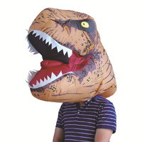 H&ZY Adult T REX Inflatable Costume Christmas Cosplay Dinosaur t rex Blow up Dress Worn On The Head Cosplay Inflatable Mask
