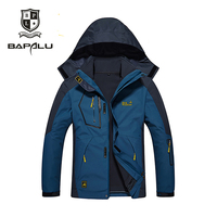 Winter jacket new men's Female jacket Stitching Hooded Thickened Keep warm jacket Windproof Waterproof jacket coat 2 in 1 jacke