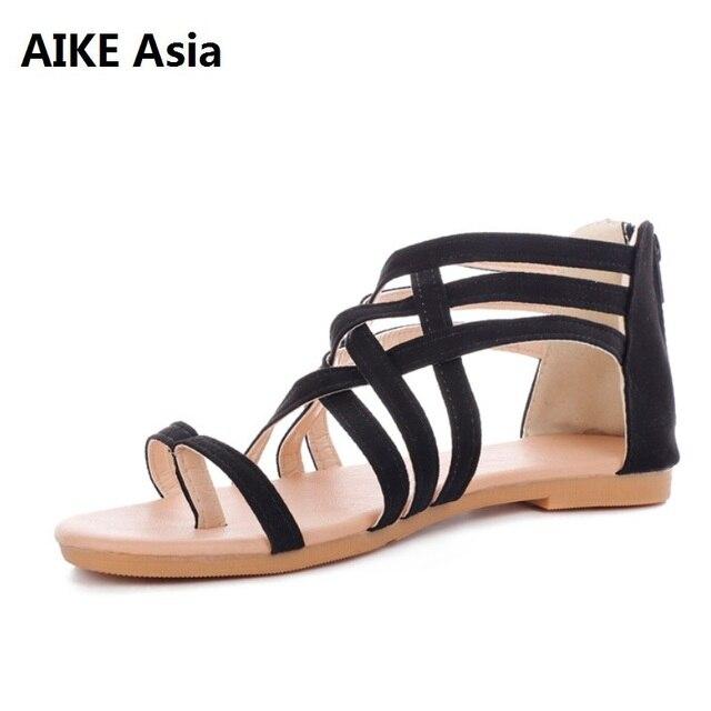 Nuevas Verano 2018 Altas 3 Tiras Gladiador 34 Cruzadas 43 Con Mujer Sandalias Para Zapatos De Eur Colores f6gY7vby
