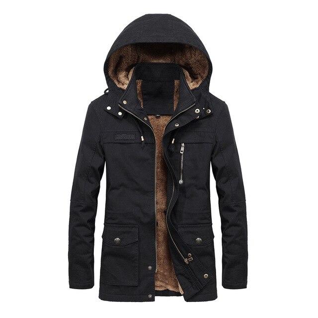 819a91c22bb parka men Autumn winter new jacket men s plus velvet washed casual jacket men s  long windbreaker Hooded jacket coat large size