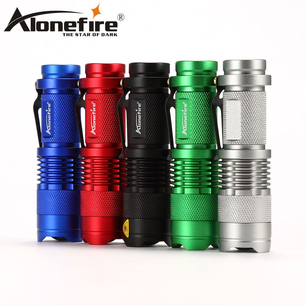 Alonefire SK68 CREE XPE Q5 LED Mini Flashlight Portable Zoomable CREE Q5 led torch flashlight lamp Lighting For AA or 14500 ultrafire sk68 80 150lm 3 mode white light zooming flashlight xr e q5 led lamp pocket torch 1 x 14500 battery charger